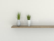 Set of 3 Floating Shelves Walnut Brown
