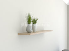 Set of 3 Floating Shelves Light Brown