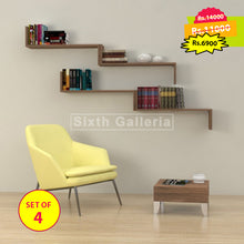Camilia Shelves Walnut Brown