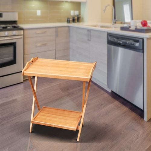Light Brown Folding Tea Table