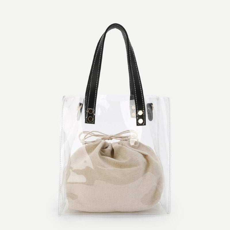 Clear Tote Bag With Inner Pouch