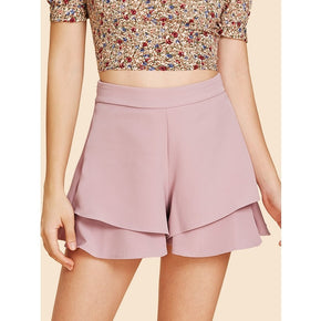 Pink high waist shorts for women online - madrushfahion.com