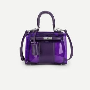 Purple Shoulder Bag With Inner Pouch