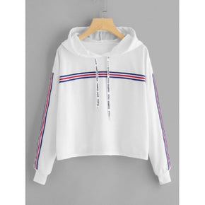 white sweatshirt hoodie for women online - madrushfashion.com