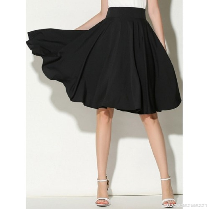 High waist skater skirt for women online - madrushfashion.com