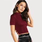 Burgundy Lace on the back T-shirt