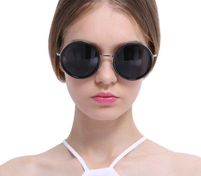 Cool Lady Round Coating Mirror Sunglasses
