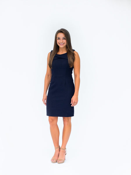 Business Casual Navy Sheath Dress