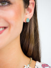 Druzy Stud Earrings with Gold Accent