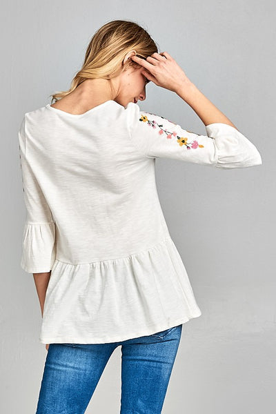 Mia Embroidered Top