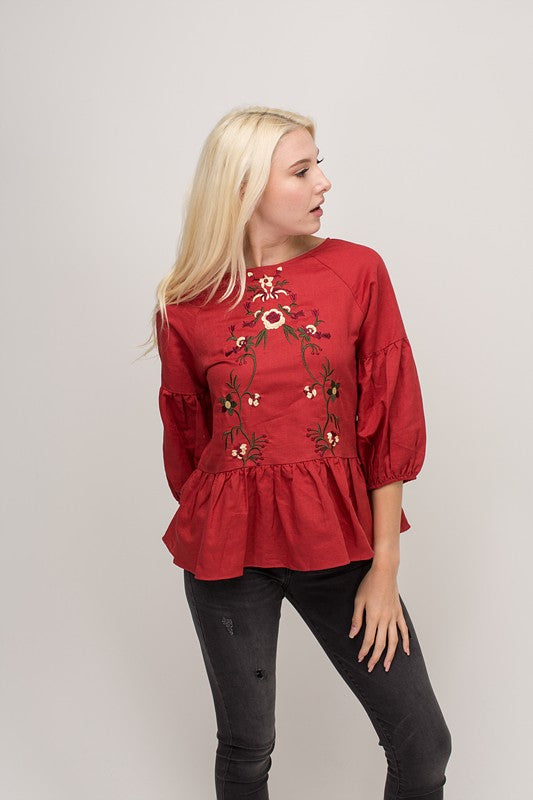 Madison Embroidered Top