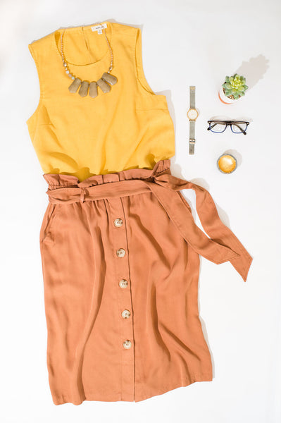 Sunny Button Back Top