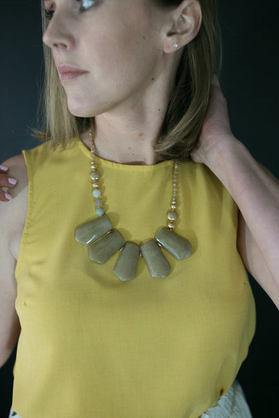 Neutral Statement Necklace