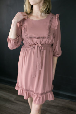 Sarah Dusty Rose Dress