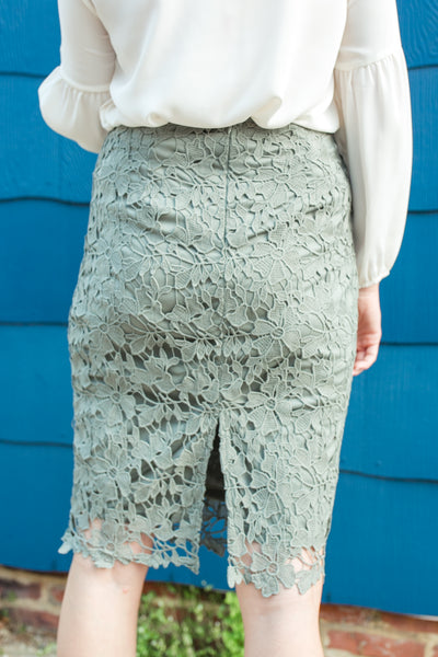 Rosemary Lace Pencil Skirt