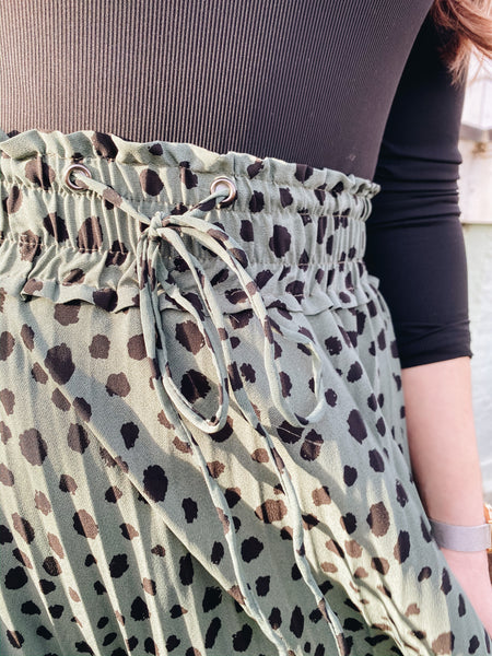 Spotted Dusty Green Skirt