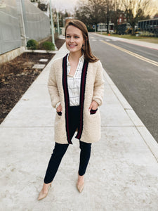 Workwear Sherpa Cardigan Business Casual