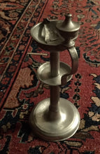 Dutch Pewter Oil Lamp Snot-Neus