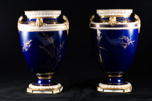 "Two Albert Gregory signed Royal Crown Derby vases from the 1890-1921 production years. Measure 9.5""h x 6""w. From a San Francisco collection."