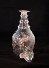 American Hand-Blown Flint Glass Decanter Early 19th Century Uncorked