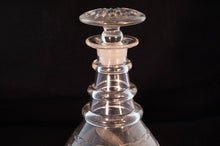 Neck Detail American Hand-Blown Flint Glass Decanter Early 19th Century