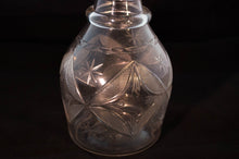 Etch Detail American Hand-Blown Flint Glass Decanter Early 19th Century