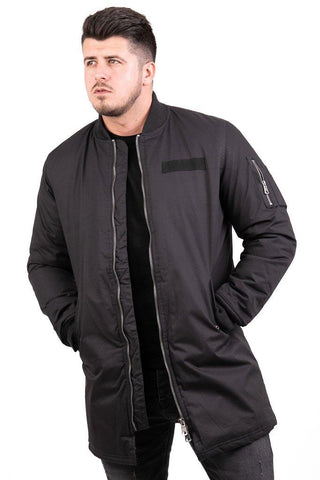 Image of Geaca Long Bomber - Neagra