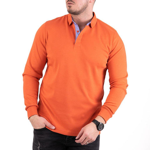 Image of Bluza cu guler Rugatchi - Orange