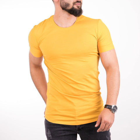 Image of Tricou CREW - Mustar
