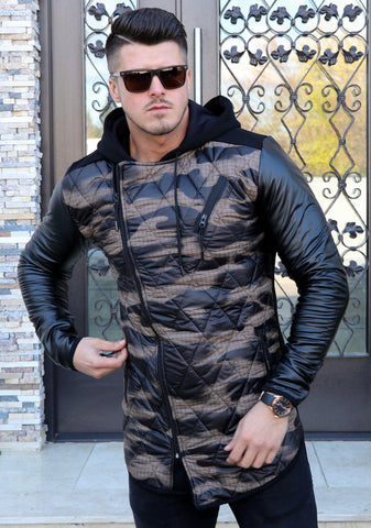 Image of Cardigan ECO - CAMO ( Cod: CARD15 ) - street-style-ro