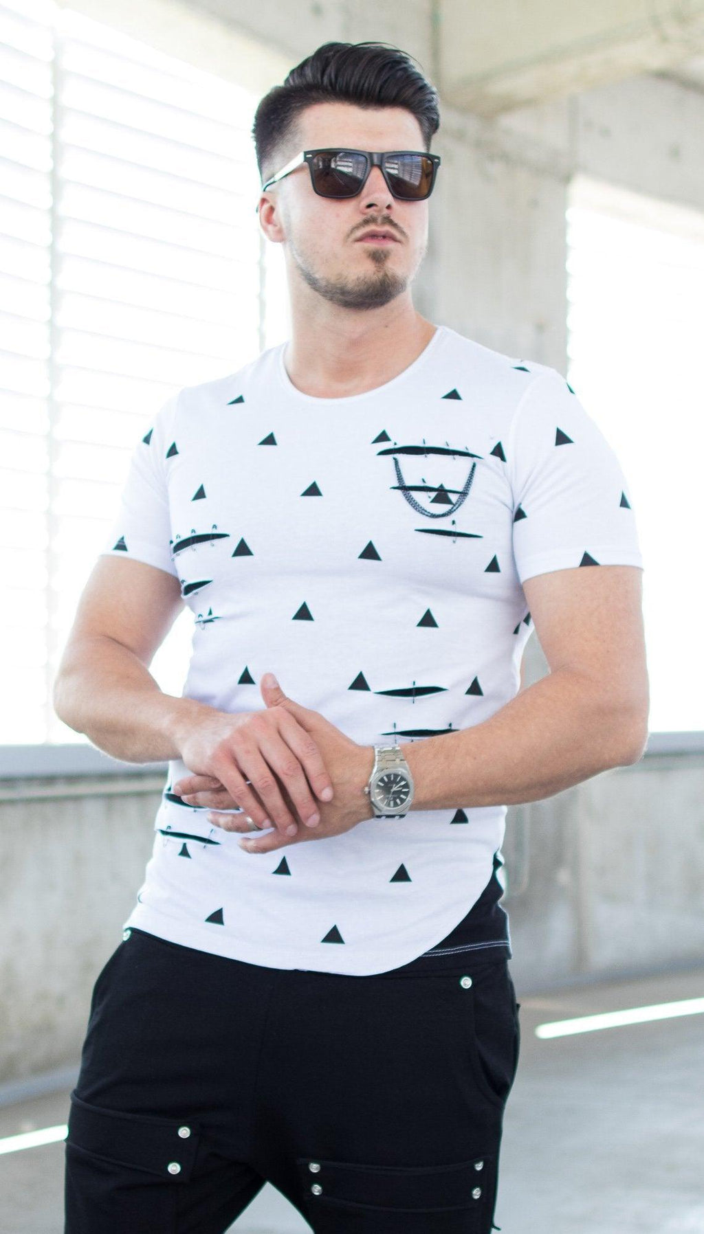 Tricou SHAPES - Alb - street-style-ro
