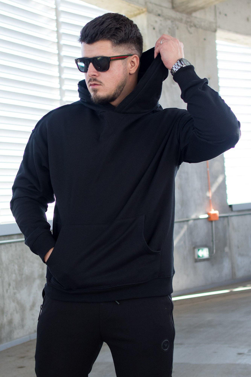 Hanorac Oversize BLACKED OUT - street-style-ro