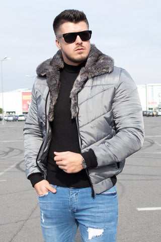 Geaca GREY FUR - Gri