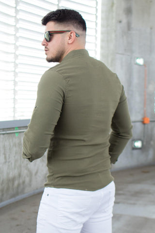 Image of Camasa OXFORD 4 Nasturi - Khaki