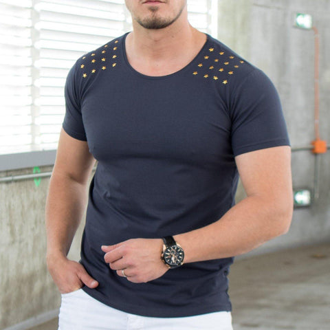 Image of Tricou Gold Stars - Gri