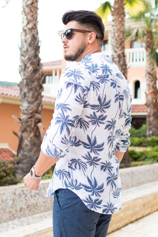 "Image of Tunica din IN - Alba ""Palm"" - street-style-ro"