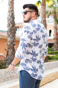 "Tunica din IN - Alba ""Palm"" - street-style-ro"