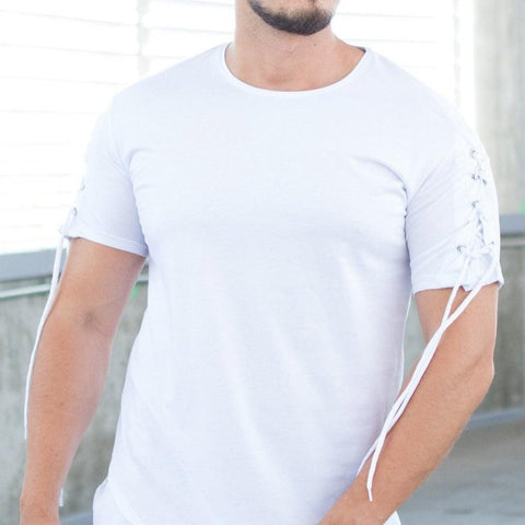 Image of Tricou Laces - Alb - street-style-ro