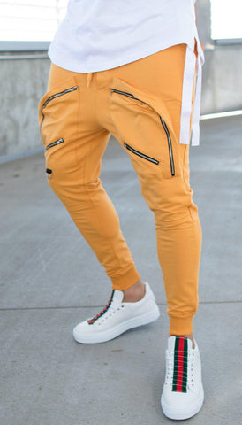 Image of Pantaloni Fashion 249 POCKET ZIPP - Galbeni - street-style-ro
