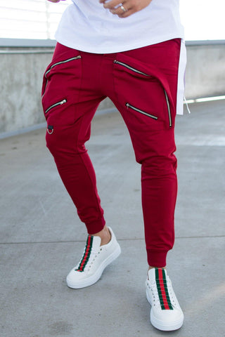 Image of Pantaloni Fashion 249 POCKET ZIPP - Grena - street-style-ro