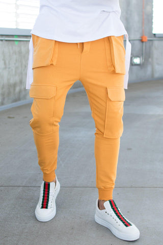 Image of Pantaloni Fashion 248 POCKETS - Galbeni - street-style-ro