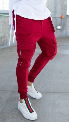Image of Pantaloni Fashion 248 POCKETS - Grena - street-style-ro
