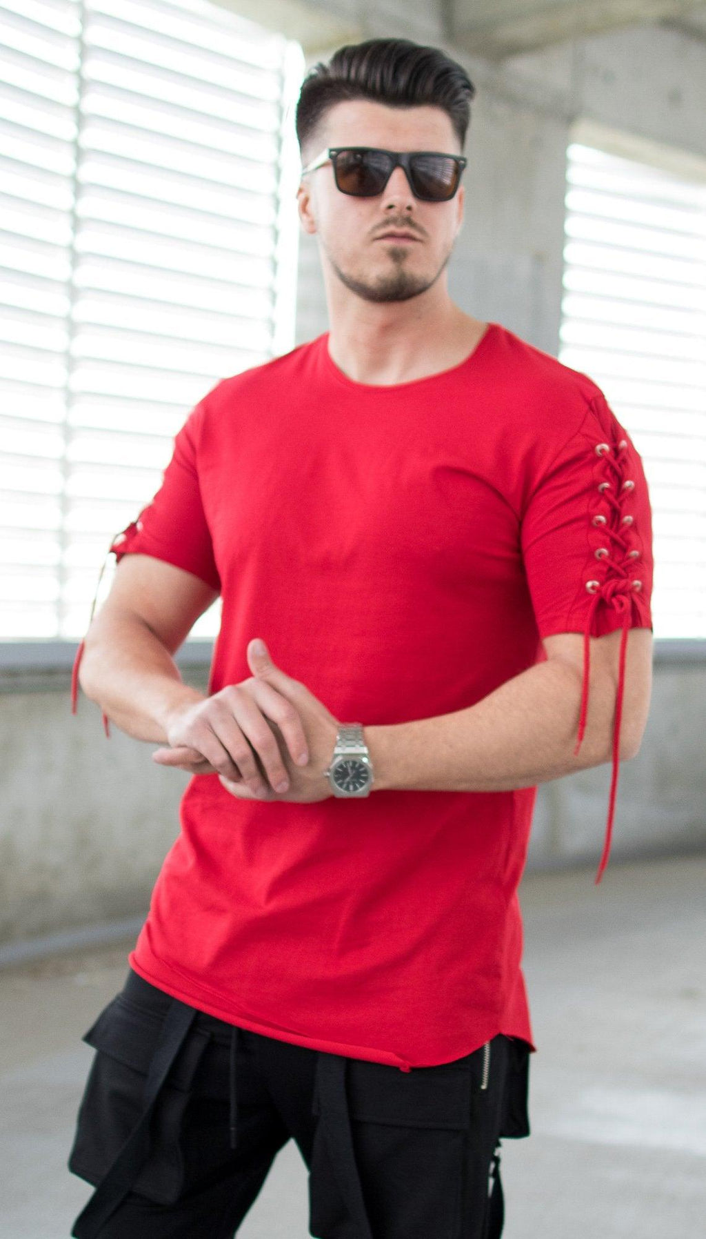 Tricou Laces - Rosu - street-style-ro
