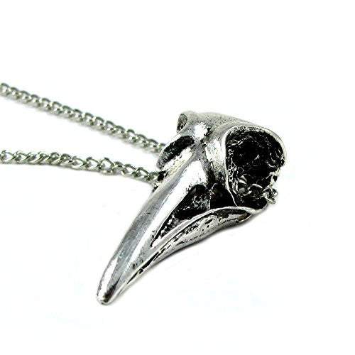 Raven Bird Skull Necklace