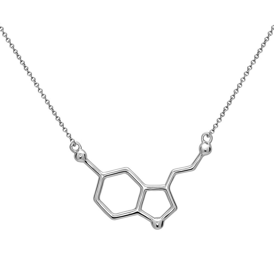 Serotonine Molecule Necklace made of 925 sterling silver