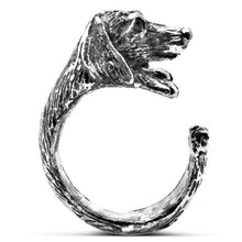 Dachshund Ring in Silver Tone