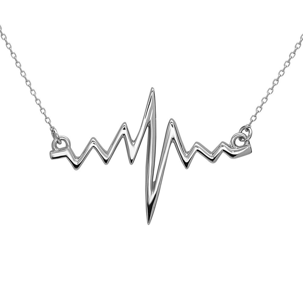 EKG Heartbeat Necklace Chain made of 925 sterling silver