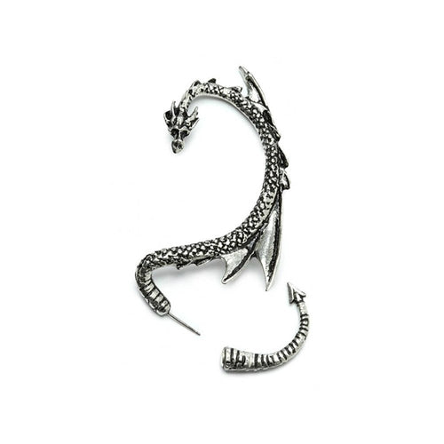Dragon Ear Cuff silver tone