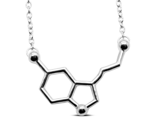 Serotonin Molecule Necklace in 3 colors