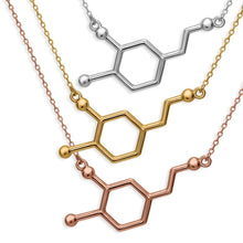Dopamine Molecule Necklace made of 925 sterling silver